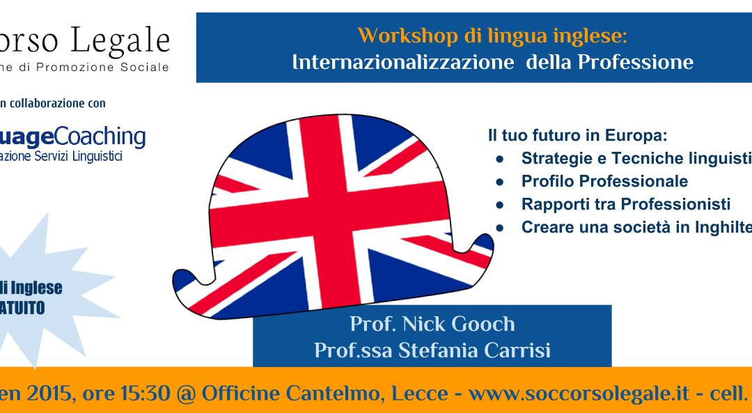 Workshop di lingua inglese a Lecce